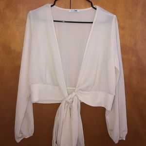 Tie up blouse
